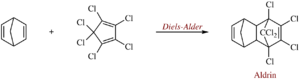 Aldrin - Synthesis of aldrin via a Diels-Alder reaction