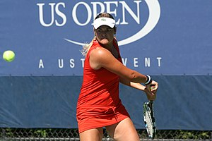 Aleksandra Wozniak - Wozniak at the US Open in 2012