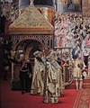 Alexander III and Maria Fedorovna's coronation by G.Becker (1888, Hermitage) detail 04.JPG