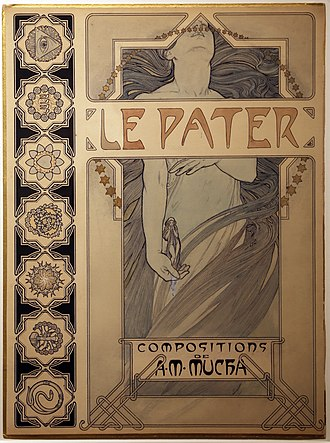 Alphonse Mucha - Cover of Le Pater (1899)