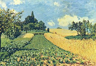 Corn Fields on the Hills in Argenteuil