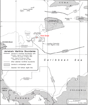 Alice Shoal - Location of Alice Shoal within the Jamaica-Colombia Joint Regime