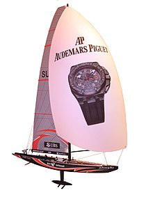 Color CGI of SUI-64 (Alinghi) on a white background