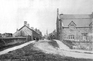 Alnmouth - Alnmouth's Northumberland Street in the late 19th century.