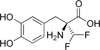 Alpha-Difluoromethyl-DOPA - Image: Alpha difluoromethyl DOPA