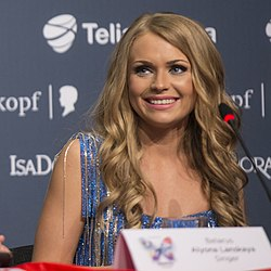 Alyona Lanskaya, ESC2013 press conference 06.jpg