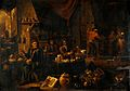 An alchemist in his laboratory. Oil painting by a follower o Wellcome V0017689.jpg