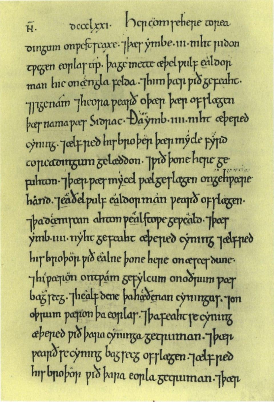 Anglo-Saxon Chronicle - C - 871