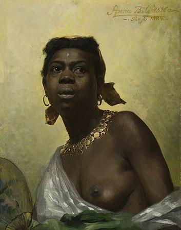 Anna Bilińska-Bohdanowiczowa - Black girl - MP 5531 - National Museum in Warsaw.jpg
