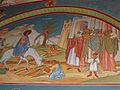 Annunciation Cathedral (Jerusalem) Fresco of Entry into Jerusalem.jpg
