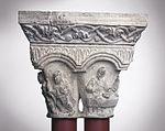 Anonyme toulousain - Chapiteau de colonnes jumelles , Les Pèlerins d'Emmaüs - Musée des Augustins - ME 145 (1).jpg
