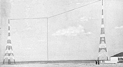Antenna of wor in newark new jersey 1935