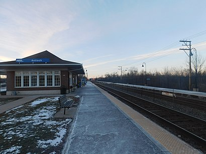 How to get to Antioch METRA Station with public transit - About the place