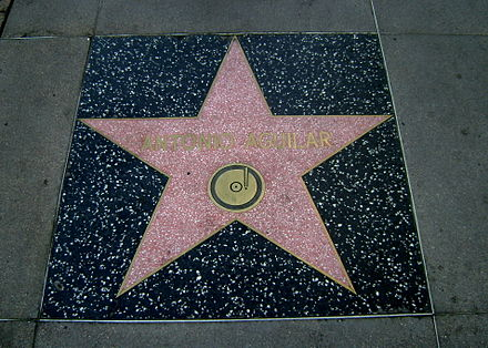 Aguilar's star on the Hollywood Walk of Fame Antonio Aguilar.jpg