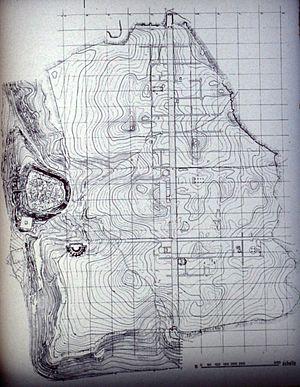Apamea, Syria - Contoured map of Apamea