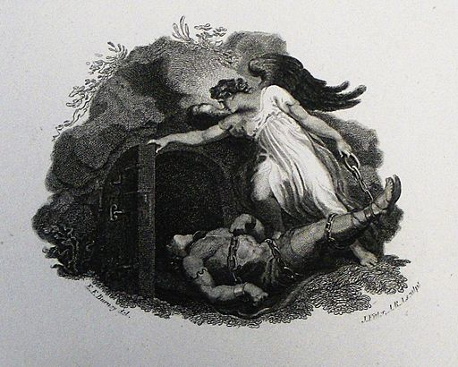 Apocalypse 34. Satan bound for 1000 years. Revelation cap 20 v 3. Burney. Phillip Medhurst Collection