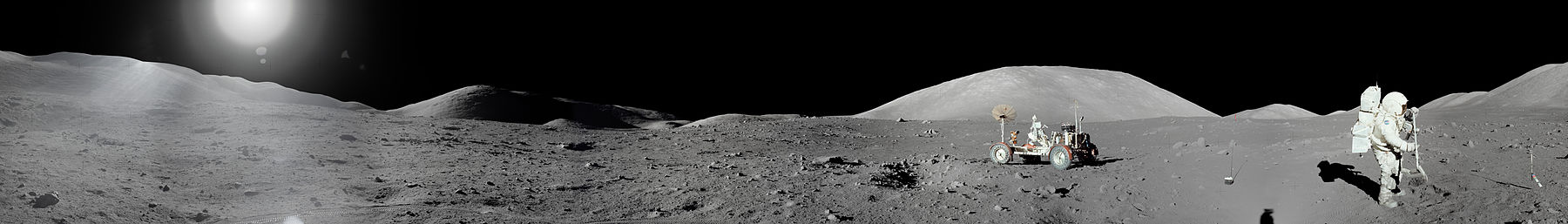 Apollo 17 Moon Panorama