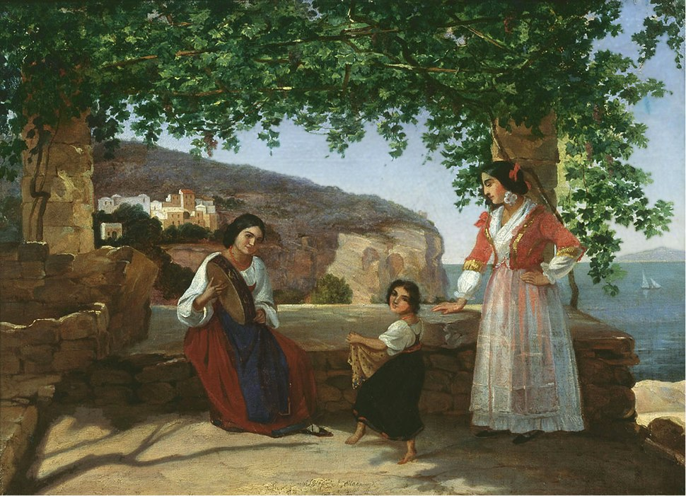 Apollon Mokritsky Rim Italyanki na Terrase 1846