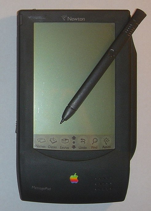 IMAGE(http://upload.wikimedia.org/wikipedia/commons/thumb/a/a5/Apple_Newton_MP100.jpg/491px-Apple_Newton_MP100.jpg)