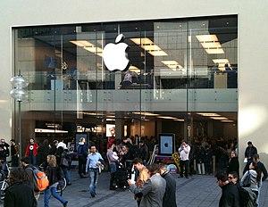 Deutsch: Apple Store in München English: Apple...