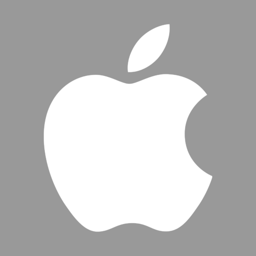 Apple gray logo