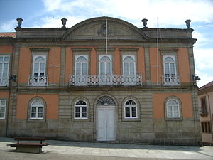 Arcos de Valdevez - The Municipal City Hall in Arcos de Valdevez, showing the ornate 19th-century facade