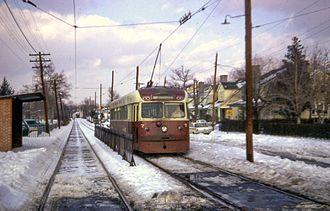 Brilliner - Image: Ardmore route tram, December 1966
