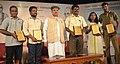 Arjun Ram Meghwal with the award winners, at the National seminar to commemorate the 1000th birth anniversary of Saint Ramanujacharya and 126th anniversary of Dr. B.R. Ambedkar, in Chennai.jpg