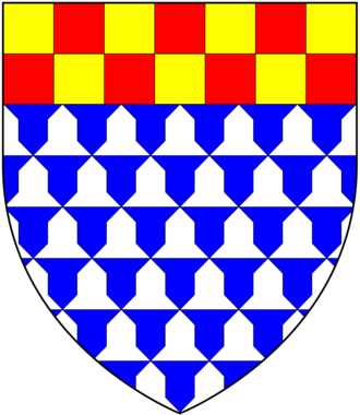 Manor of Alverdiscott - Arms of Fleming of Bratton Fleming, Alverdiscott, etc.: Vair, a chief chequy or and gules