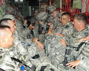 18th Military Police Brigade (United States) - Soldiers of the brigade en route to their 2007 deployment to Iraq.