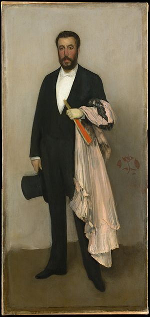 Théodore Duret - Portrait of Theodore Duret by James McNeill Whistler (1883)
