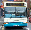 Arriva bus 1704 Dennis Dart SLF Plaxton Pointer V612 DNL in Darlington 5 May 2009.JPG