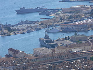 Toulon arsenal naval base in Toulon, France