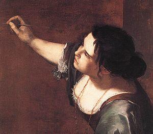 Artemisia Gentileschi - Self-Portrait as the A...