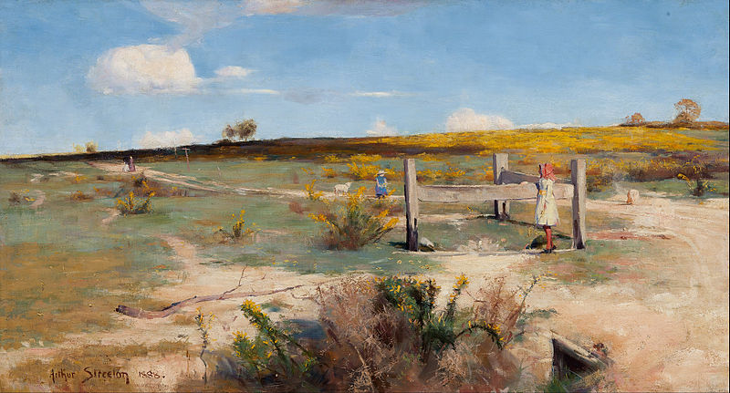 File:Arthur Streeton - Early summer - gorse in bloom - Google Art Project.jpg