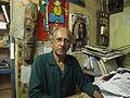 Artist Vamona Navelcar, in Goa, India..JPG