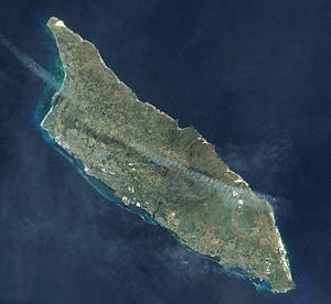 Geography of Aruba - Satellite image of Aruba
