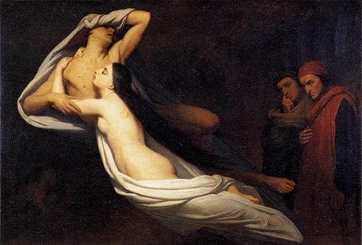 Ary Scheffer - The Ghosts of Paolo and Francesca Appear to Dante and Virgil - WGA20981