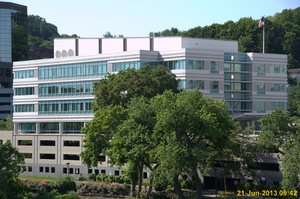 ASTM International - ASTM HQ in West Conshohocken, PA, as seen from a nearby bridge