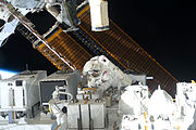 Astronaut Christopher Cassidy during STS-127's third space walk