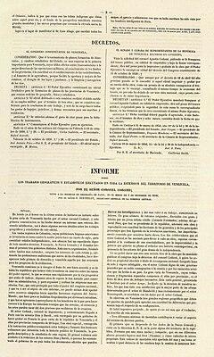 Atlas de Venezuela 1840 Informe.jpg