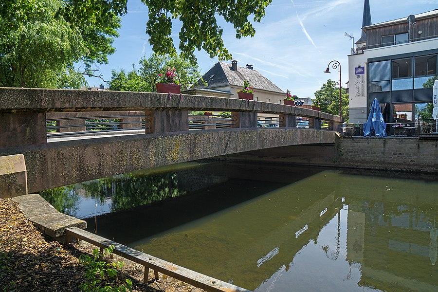Bridge over the Attert river in Bissen