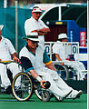 Australian paralympic lawn bowls competitor, Robert Tinker, at the 1996 Summer Paralympic Games (1).jpg