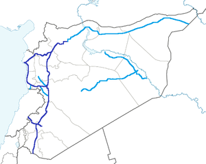 Transport in Syria - Image: Autostrada Map SYR