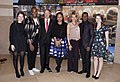 Ava DuVernay, David Oyelowo and Colman Domingo from the film Selma with the Emerson family (16314443947).jpg