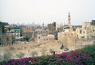 Al-Azhar Park - Ayyubid Wall Al-Azhar Park Cairo 01-2006