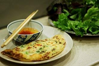 Pancake - Bánh xèo, the Vietnamese equivalent of a pancake