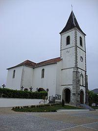 Béhasque (Béhasque-Lapiste, Pyr-Atl, Fr) l'église.JPG