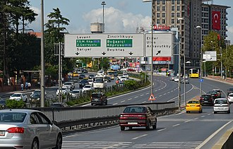 Zincirlikuyu - Büyükdere Avenue at Zincirlikuyu
