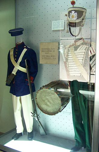Armed forces of the Principality of Serbia - Uniforms dating to 1841–45